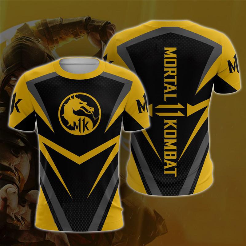 Мортал Комбат 11 футболка Скорпион и Саб Зиро