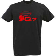 Футболка с однотонным принтом Ауди (Audi Q7) черная 0024