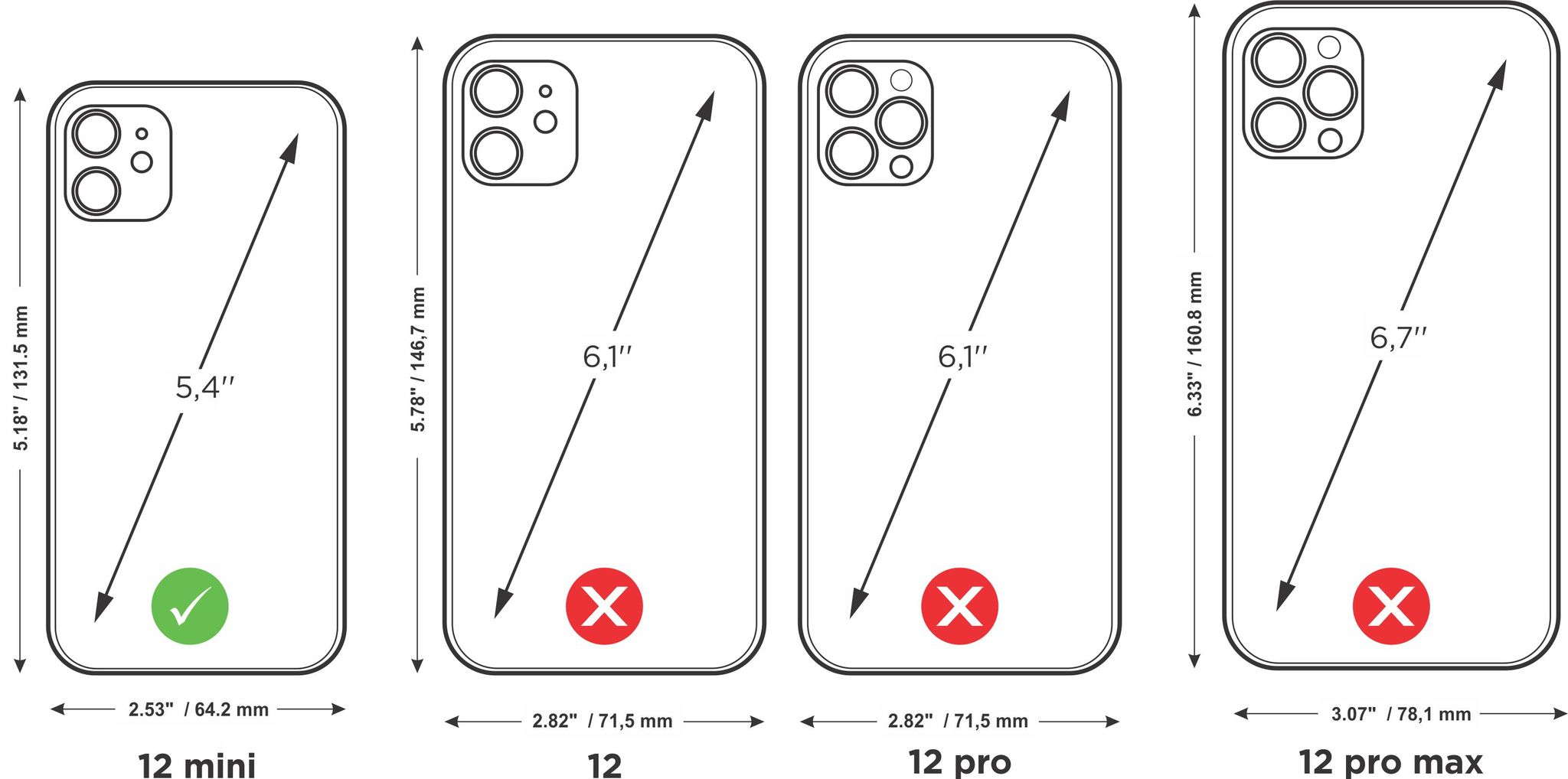 case iphone 12 mini - black