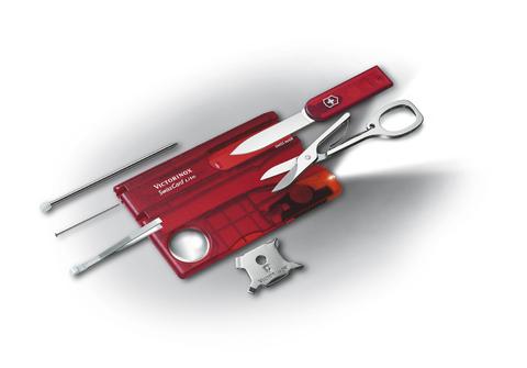 Швейцарская карточка Victorinox SwissCard Lite, красная
