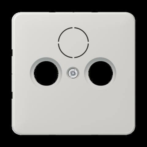Накладка  двойная/тройная для антенных розеток. Цвет Светло серый. JUNG CD. CD561SATLG