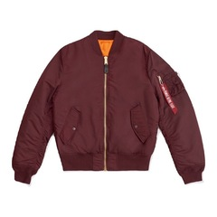 Бомбер Alpha Industries Slim Fit MA-1 Maroon (Бордовый/Оранжевый)