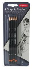 Набор чернографитных карандашей GRAPHIC MEDIUM 2B,B,HB,2H 4шт., блистер