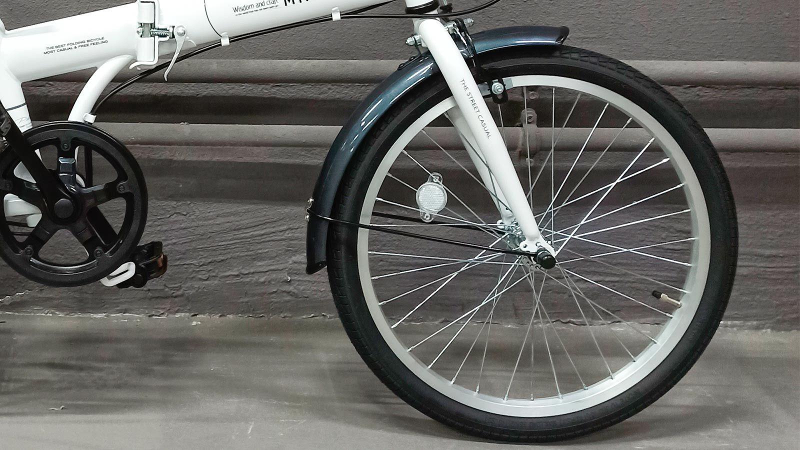 переднее колесо японского складного велосипеда