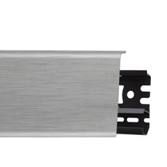 Плинтус ПВХ Arbiton Indo 41 Алюминий светлый 2500х70х26 мм