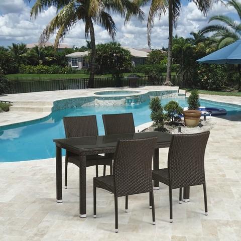 Комплект плетеной мебели T256A/Y380A-W53 Brown 4Pcs