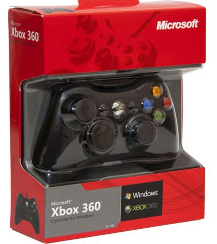 Проводной контроллер (Xbox 360, черный)