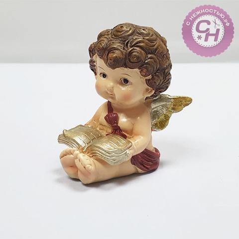 Фигурка Ангел с книгой, цветной, 7*5,4*3,8 см, 1 шт.