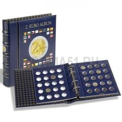 Альбом VISTA для 2 Euro, с шубером, 4 листа по 20 ячеек, синий
