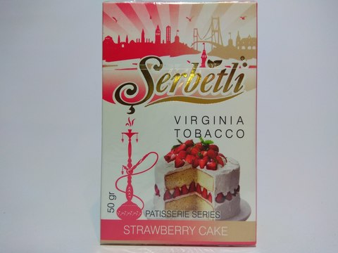 Табак для кальяна SERBETLI Strawberry Cake 50gr
