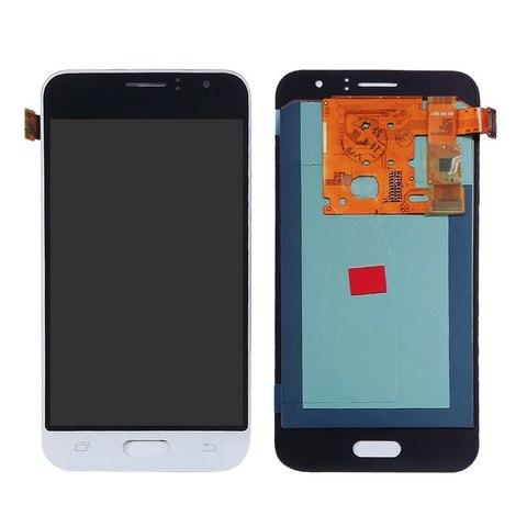 LCD SAMSUNG J1 (2016) J120 + Touch White Orig MOQ:5