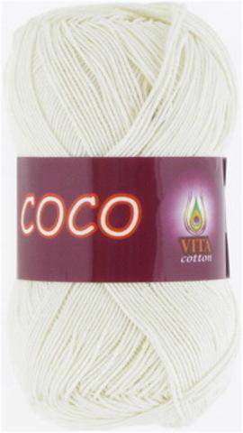 Пряжа Coco (Vita cotton) 3853 Молочный
