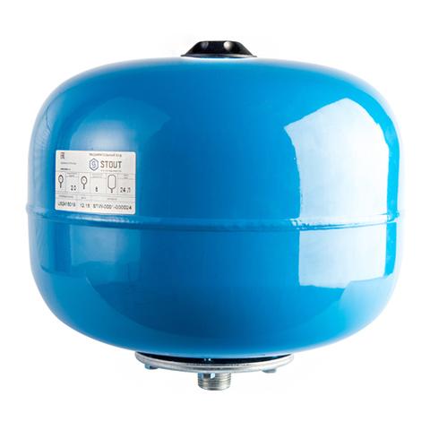 Гидроаккумулятор STOUT - 20л. (D-250мм, вертикальный, со сменной мембраной)
