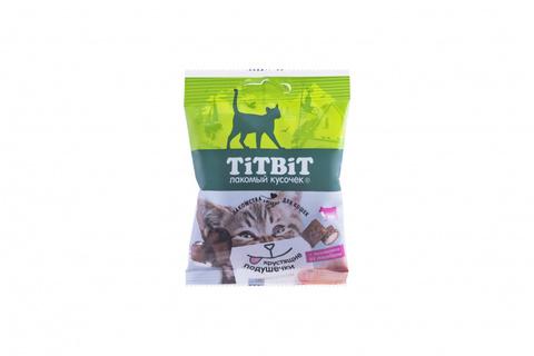Titbit Хрустящие подушечки для кошек с начинкой из говядины 30 г
