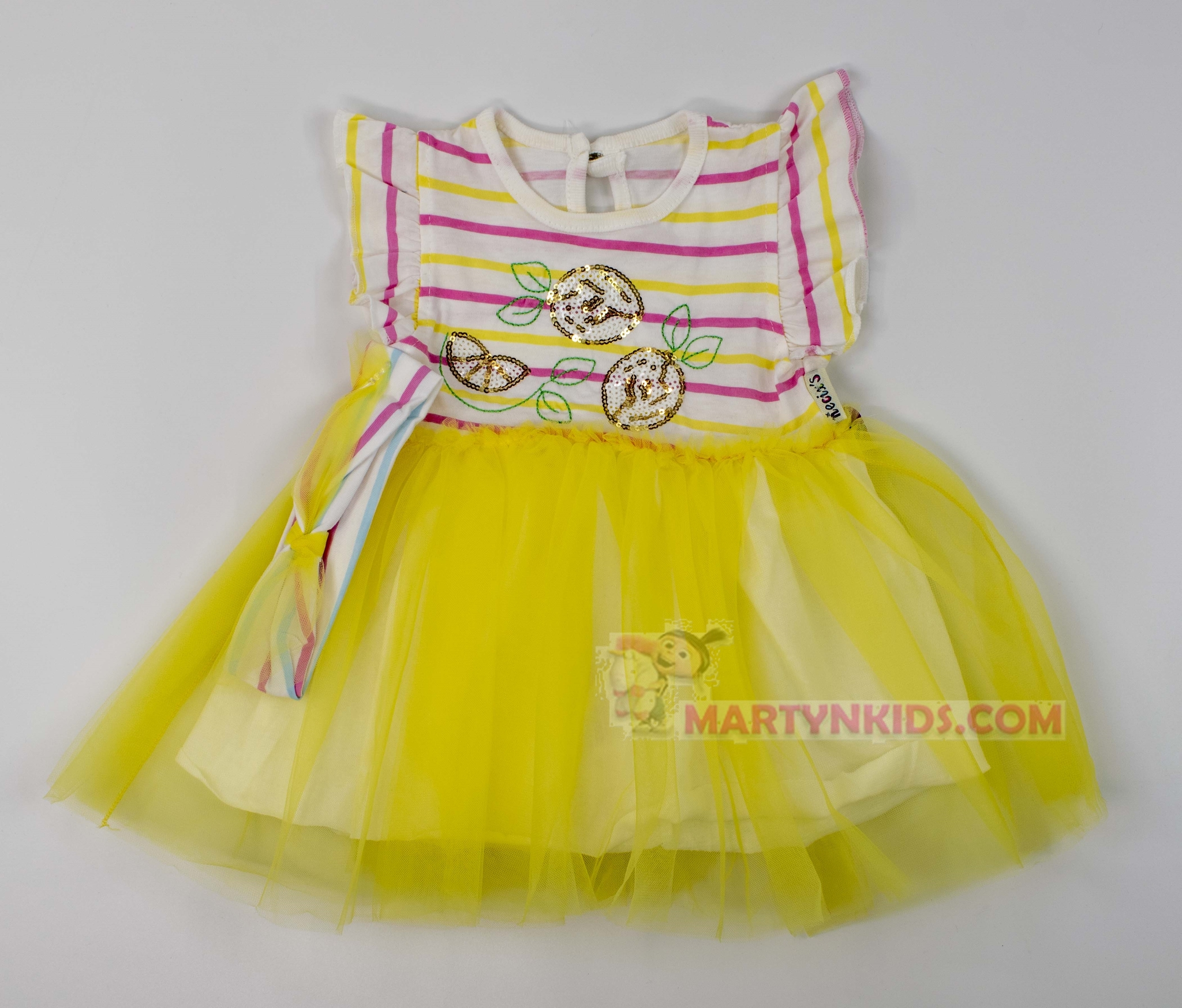 3473 платье Фрукты с ободком