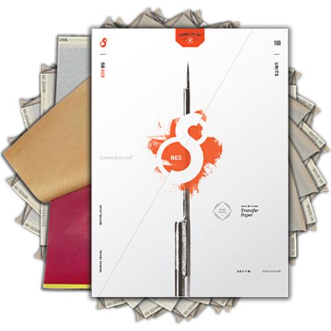 ТРАНСФЕРНАЯ БУМАГА S8 RED TATTOO STENCIL PAPER