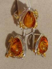 Вуокса (кольцо + серьги из серебра)