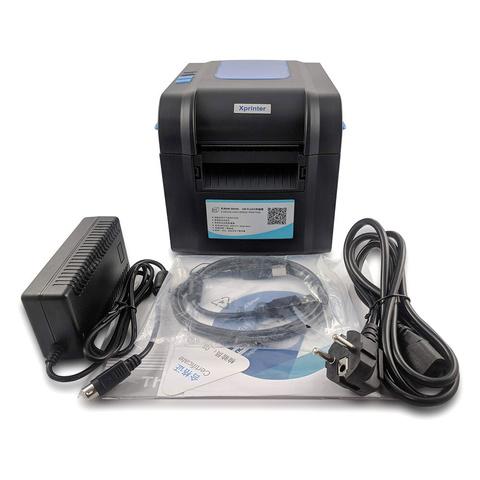 Принтер для чеков/наклеек термо Xprinter XP-370B black