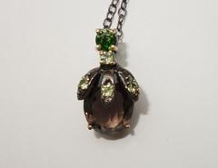 Ожерелье с дымчатым кварцем, 45-47 см