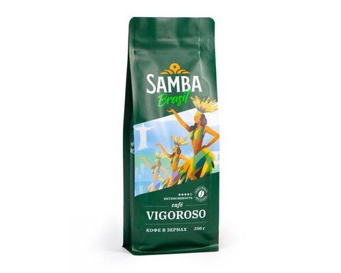 Кофе в зернах Samba Cafe Brasil Vigoroso, 250 г