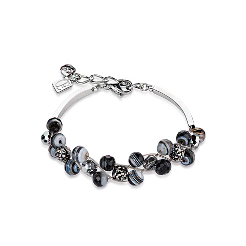 Браслет Coeur de Lion 4895/30-1314 цвет чёрный, серый, серебряный