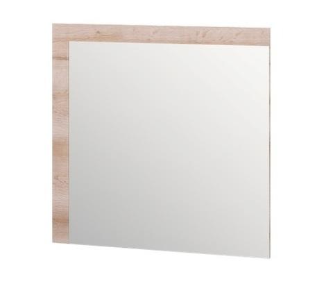Зеркало настенное Люмен 18 Ижмебель дуб сакраменто/белый снег глянец