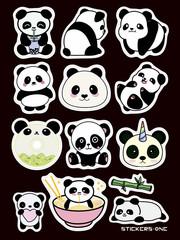 Набор стикеров Panda