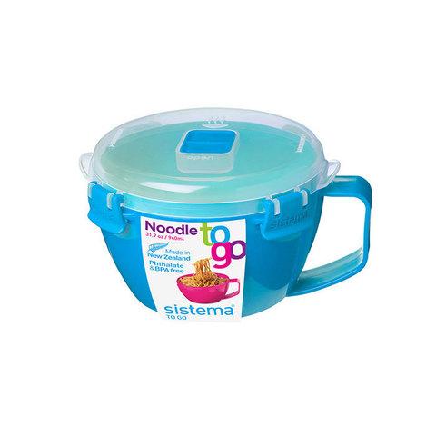 """Кружка для приготовления лапши в СВЧ Sistema """"Microwave"""" 940 мл, цвет Голубой"""