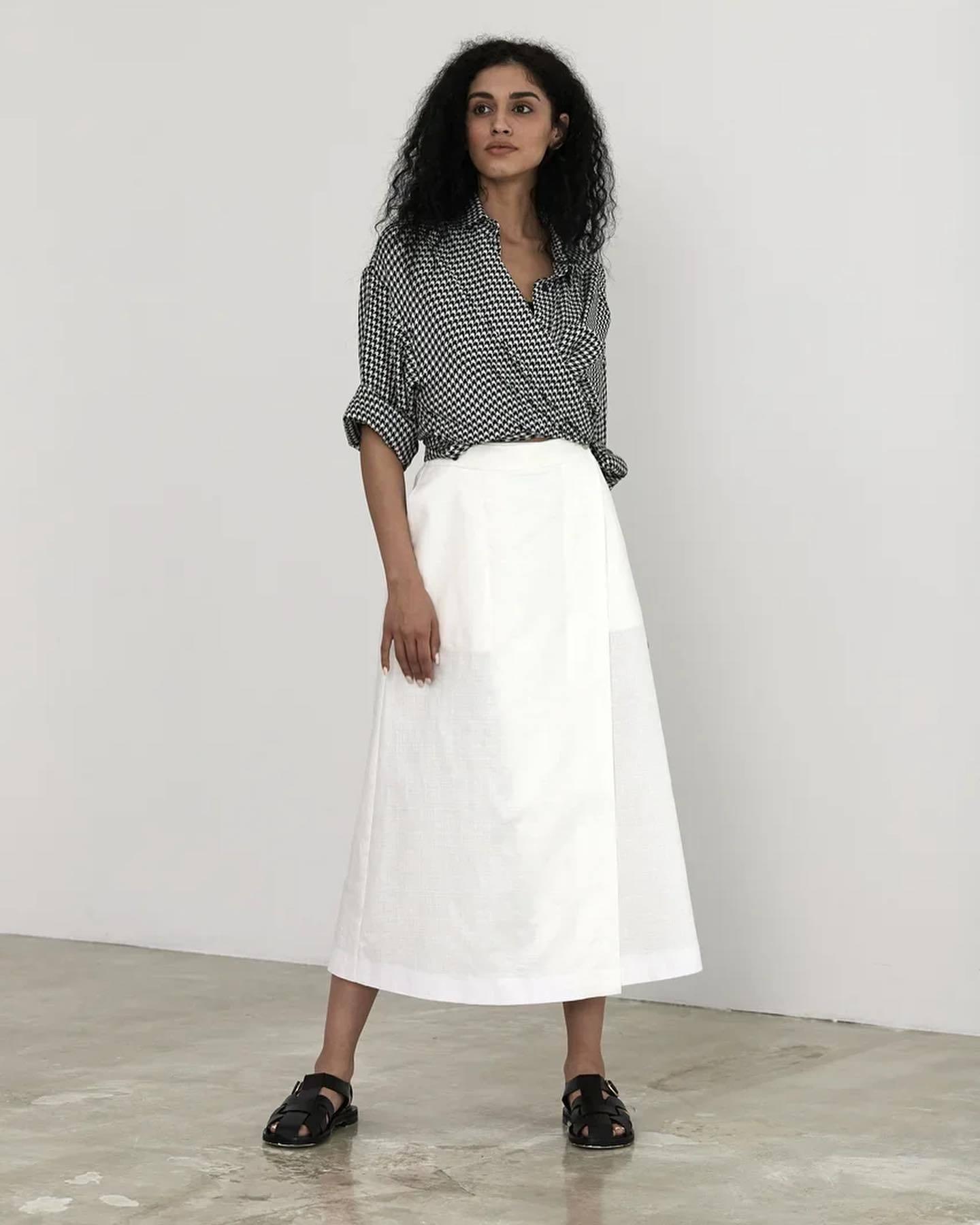 юбка из льна