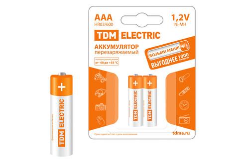 Аккумулятор AAA-600 mAh Ni-MH BP-2 TDM