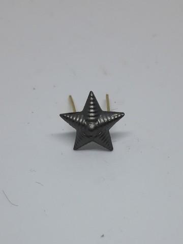 Звезда на погоны мет. риф. защ. 13мм. (серый оттенок)