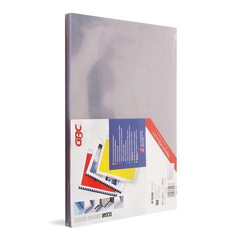 Обложки для переплета пластиковые GBC А3 180 мкм прозрачные глянцевые (100 штук в упаковке)