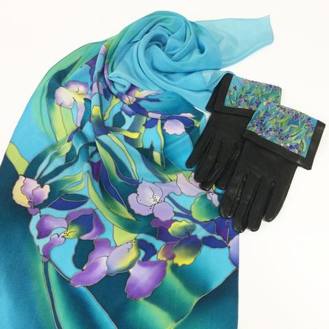 Комплект платок и перчатки Ирисы Ван Гог