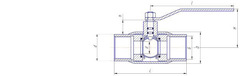 Конструкция LD КШ.Ц.М.040.040.Н/П.02 Ду40 стандартный проход