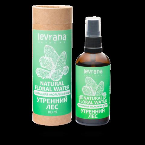 Levrana Натуральная флоральная вода для лица и тела. Утренний лес, 100мл