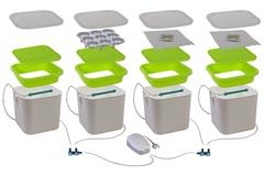 Проращиватель семян АэроСАД 4х-модульный автоматический гидропонный, Здоровья Клад Х4