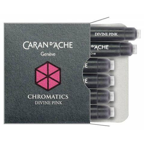 Картридж Carandache Chromatics (8021.080) divine pink для перьевых ручек 6шт в уп