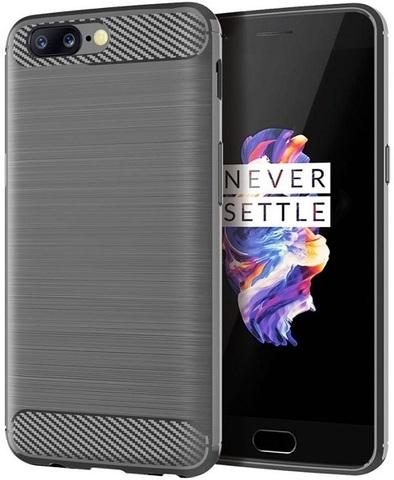 Чехол для OnePlus 5 цвет Gray (серый), серия Carbon от Caseport