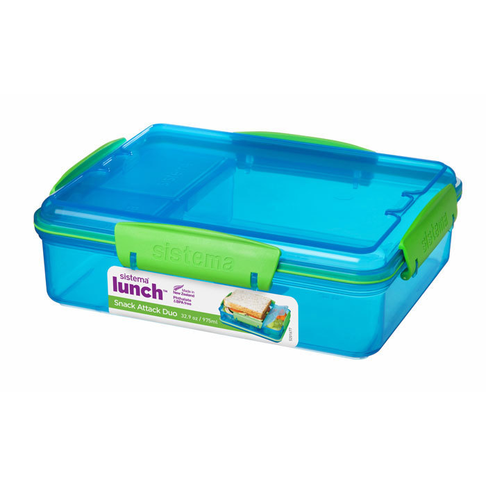 "Ланч-бокс Sistema ""Lunch"" с разделителями, 975 мл, цвет Голубой"
