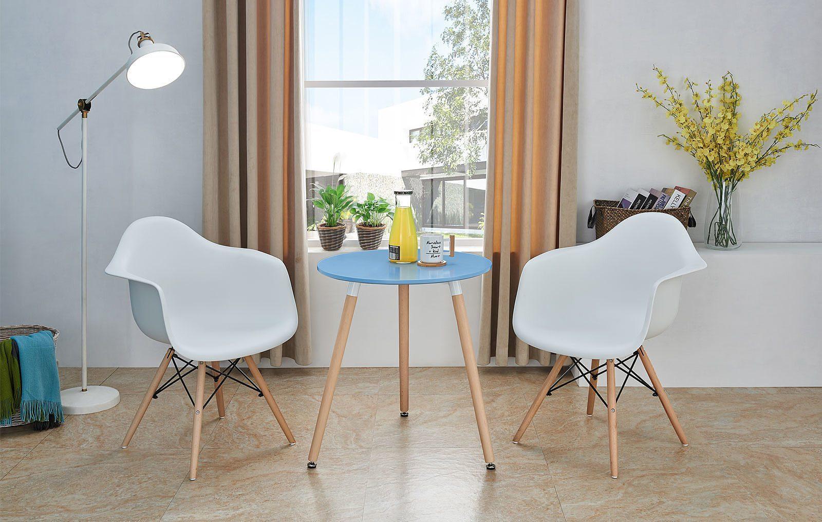 Стол DT-903  синий и стулья ESF 982 белые
