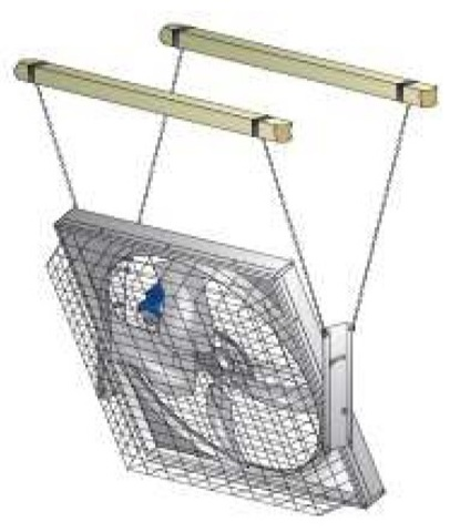 MFS52 | Набор для подвеса вентилятора для коровников и ферм