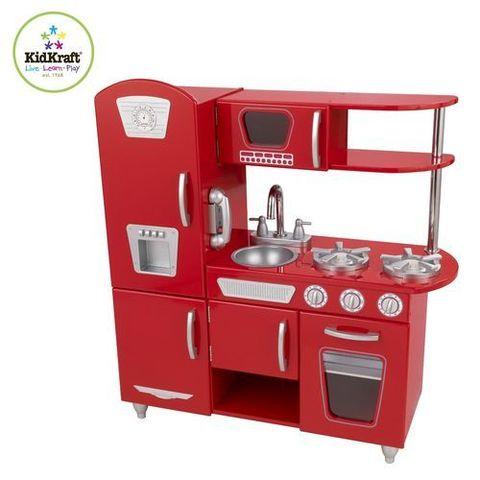 """Игрушка кухня из дерева """"Винтаж"""", цвет Красный (Red Vintage Kitchen)"""