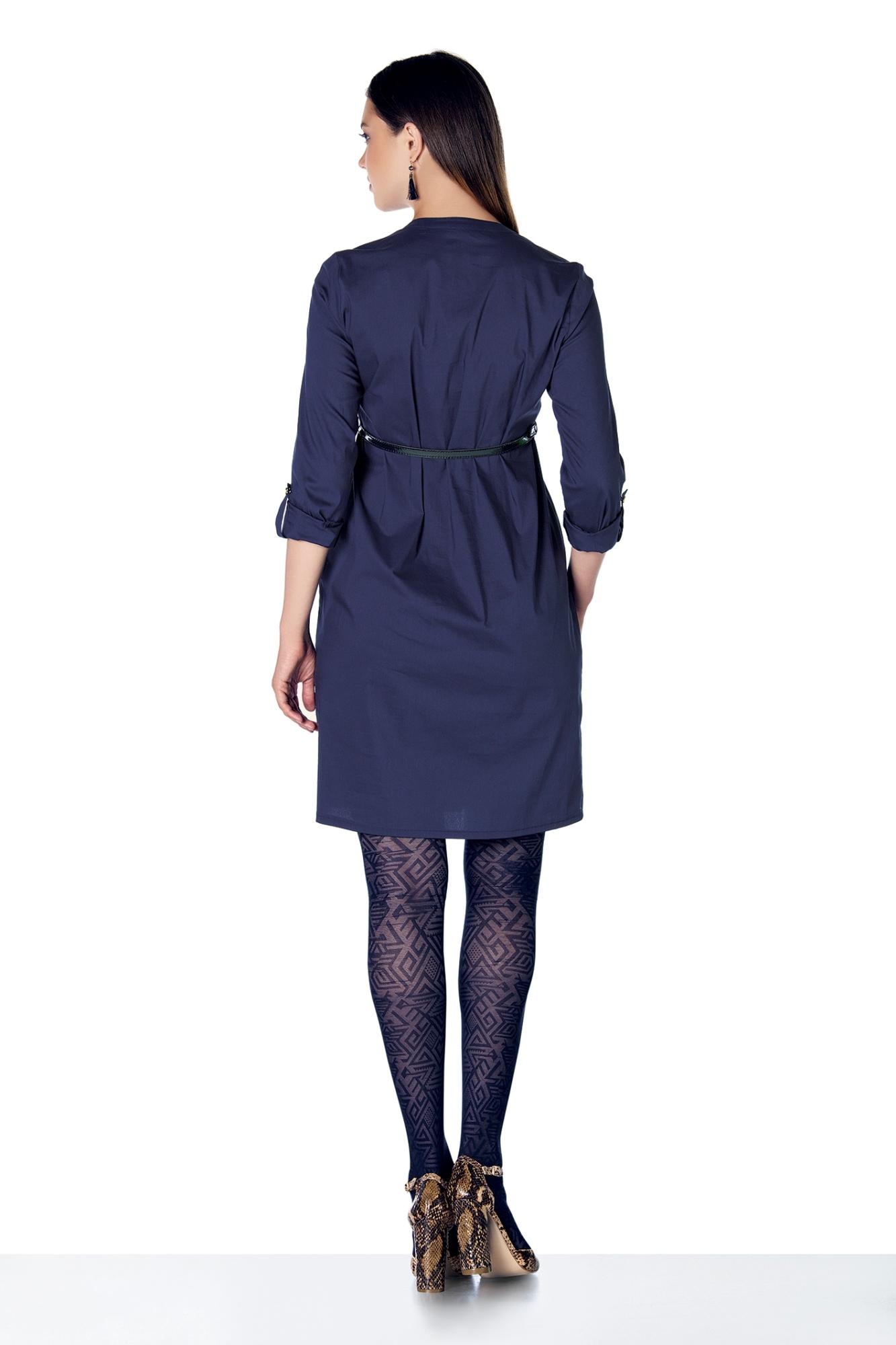 Фото платье для беременных EBRU, приталенное от магазина СкороМама, синий, размеры.