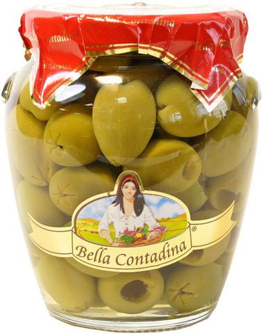 Оливки зеленые (без косточки) Бахрушинъ 0.55кг