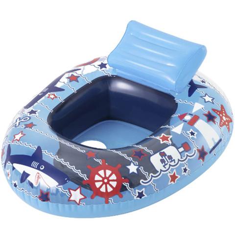Плавательный круг Bestway 34126 Лодка (69x57 см), синий / 25349