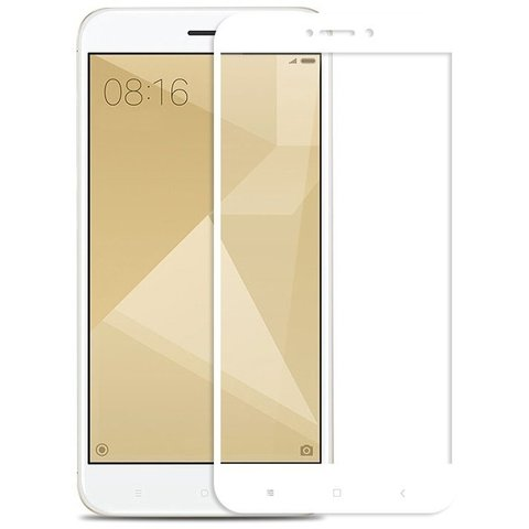 Защитное стекло 3D Xiaomi Redmi Note 4x 64GB (Белое)