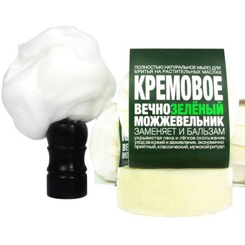 Мыло ТДС Для бритья. Кремовое: вечнозелёный можжевельник формула А19  60  гр