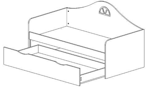 Детский диван-кровать с ящиком схема