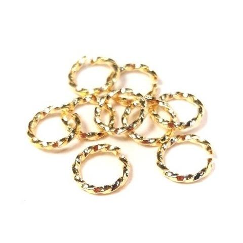 Колечки скрученные 7мм цвет золото 10шт
