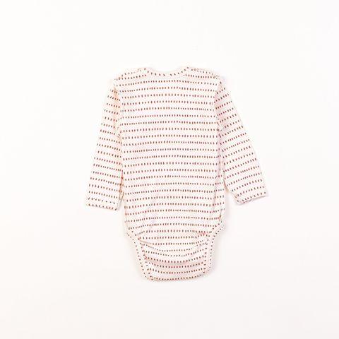 Kimono long-sleeved bodysuit 0+, Toffee